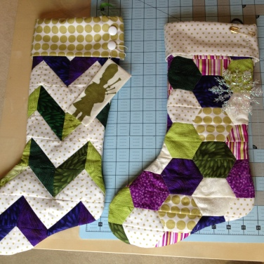 Custom Christams Stocking in wedding colors