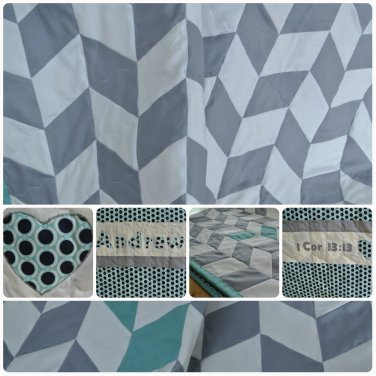 Custom Herringbone Quilt