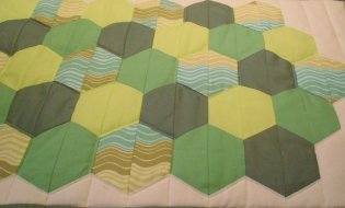 Hexagon table runner