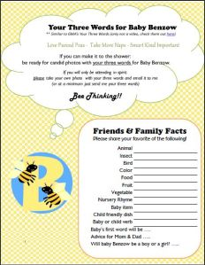 Homework - Bee is for Baby!