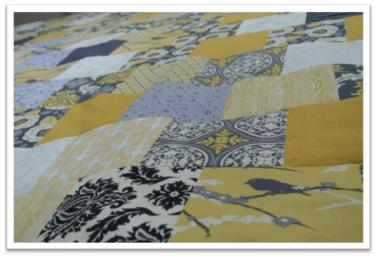Grey and Yellow Quilt - http://goo.gl/vyIyz0