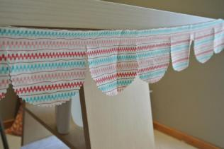 Blog post with details: https://oddsandhens.com/2013/07/06/selvedge-to-bunting-in-no-time/