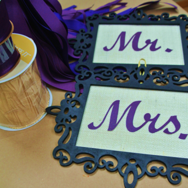 Wedding chair signs Mr and Mrs - http://goo.gl/hRTDMG