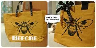 Tote Bag Makeover - http://goo.gl/LmBjL7