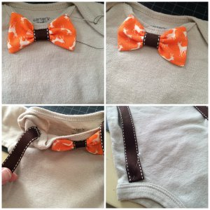 collage bowtie suspenders