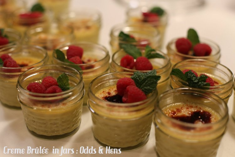 creme brûlée in jars tutorial easy dessert
