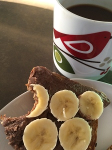 Starting my day off with a banana and pecan butter  toast!