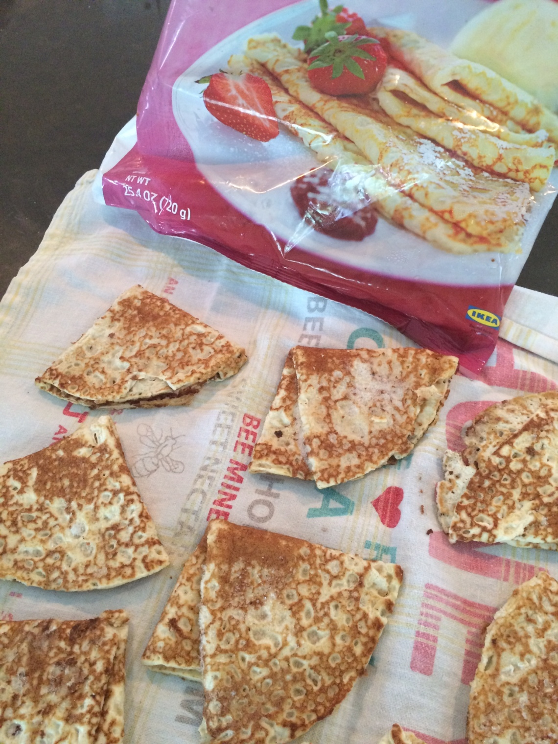fruit stack cake pancake crepe hack tutorial DIY recipe brunch dessert
