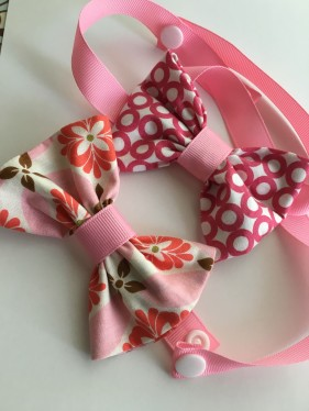 Ribbon and Fabric mini-bowtie tutorial