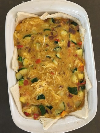 Garden Veggie Egg Bake - simple brunch recipe