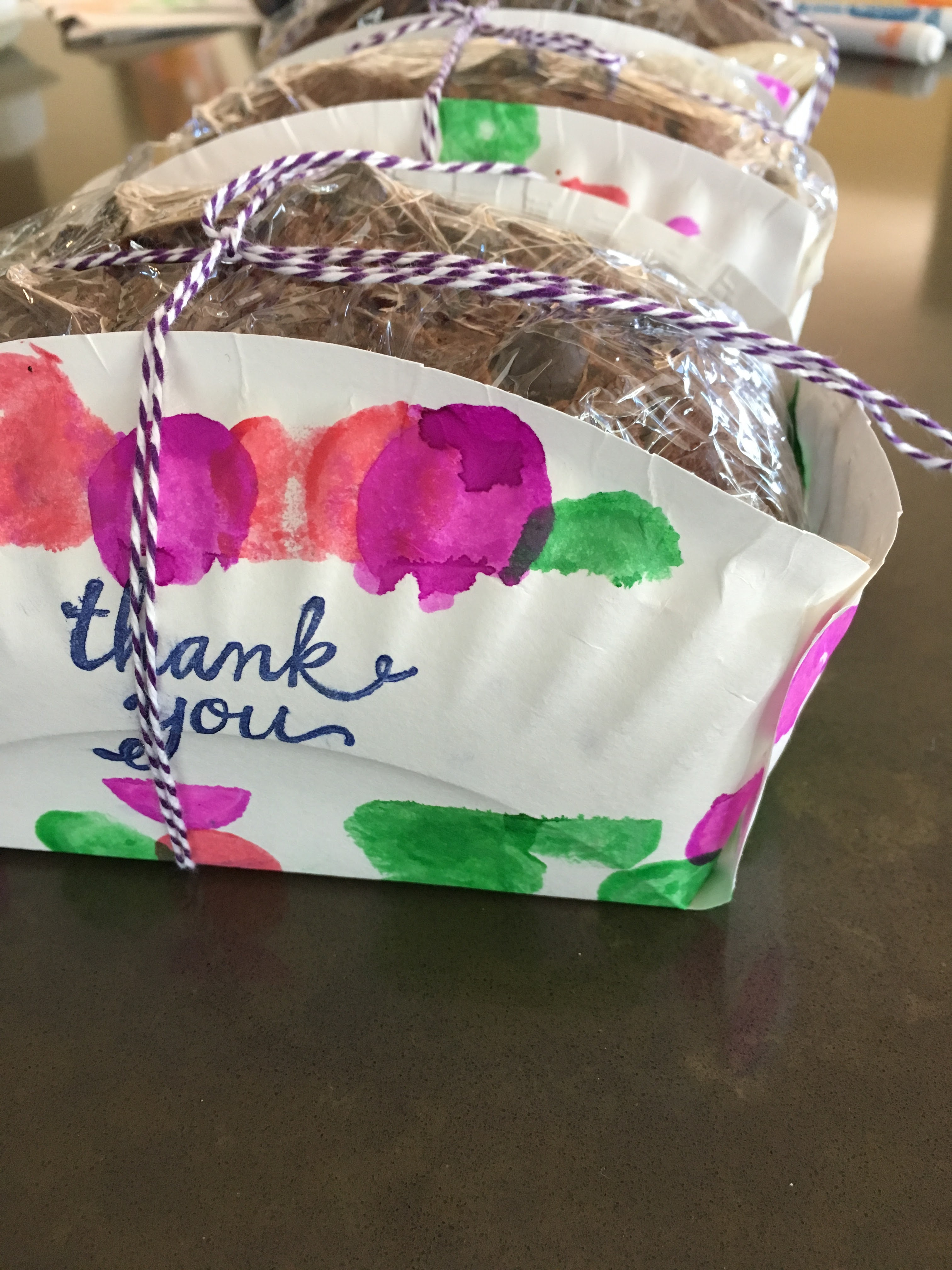 Paper Plate Basket For Home Baked Goodies A Thank You
