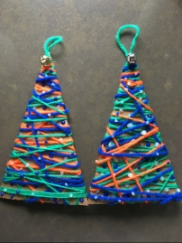 broncos ornament trees