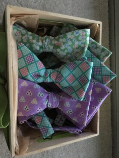 spring bowties for charity auction