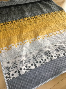 STEM inspired quilt from two jelly rolls