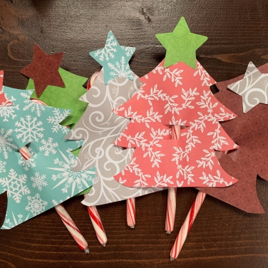 Candy Cane Christmas Tree Craft